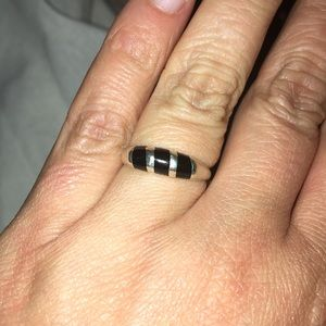 Jewelry - Silver Black Ring